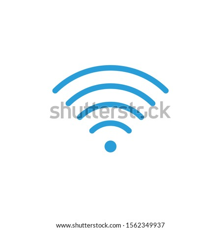 Wifi signal indicator high full signal simple icon. Stock Vector illustration isolated on white back Stock photo © kyryloff