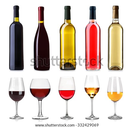 Glass and bottle of white wine with selection of various cheese in wooden box and grapes on wooden t Stock photo © DenisMArt