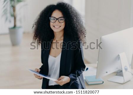 写真 アフリカ系アメリカ人 女性 論文 コンサルタント マネージャ ストックフォト © vkstudio