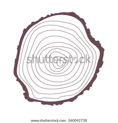 Tree trunk stump circle contour. Wood sign icon. Tree ring. Vector illustration isolated on white ba Stock photo © kyryloff