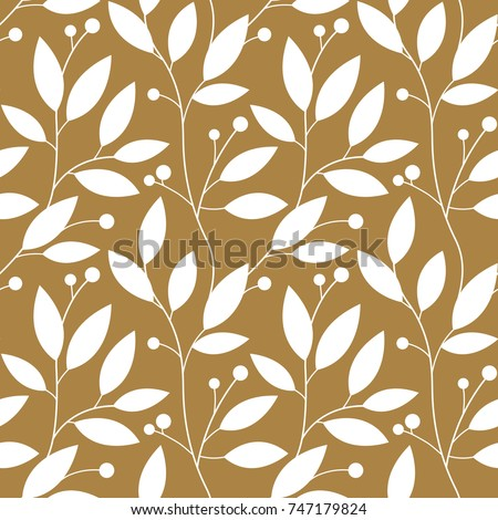 Floral seamless pattern. Leaves background. Flourish garden leaf Stock photo © Terriana