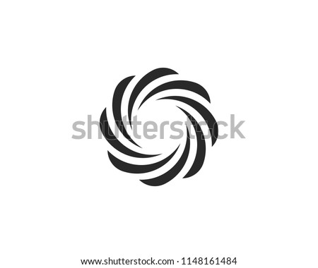 round circle wave logo, abstract elements sphere water wind symbol icon concept, round blue curl wav Stock photo © gothappy