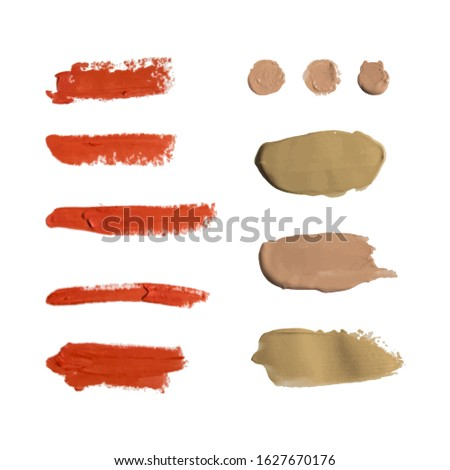 Banner of Set of matte Lipstick in red colors on white and pink background. Stock photo © Illia