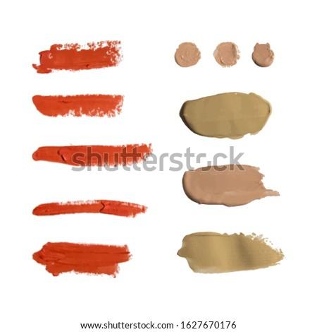 Banner ingesteld mat lippenstift Rood kleuren Stockfoto © Illia