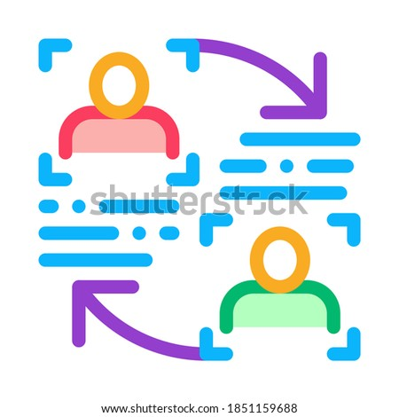 Kişilik bilgi karşılaştırma ikon vektör Stok fotoğraf © pikepicture