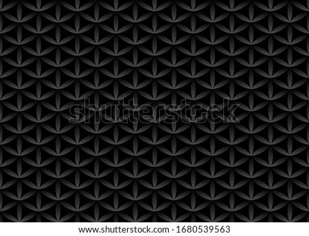 Sin costura volumen negro patrón flor vida Foto stock © Iaroslava