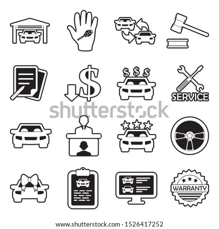 Online Car Buy Icon Vector Outline Illustration Stock photo © pikepicture