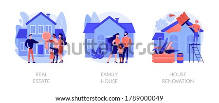 Private property and construction service abstract concept vector illustrations. Stock photo © RAStudio