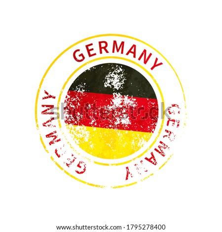 Németország felirat klasszikus grunge lenyomat zászló Stock fotó © evgeny89