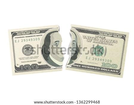 Falsificação um cem EUA dólares verde Foto stock © evgeny89