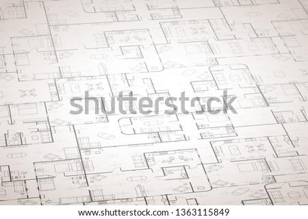 Bonyolult ház alaprajz belső részletek építkezés Stock fotó © evgeny89