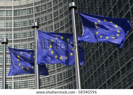Eu ヨーロッパの 組合 フラグ 建物 ベルギー ストックフォト © dmitry_rukhlenko