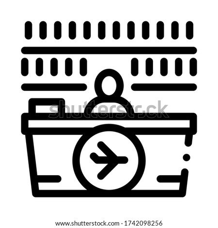 appearance of duty free counter icon vector outline illustration Stock photo © pikepicture