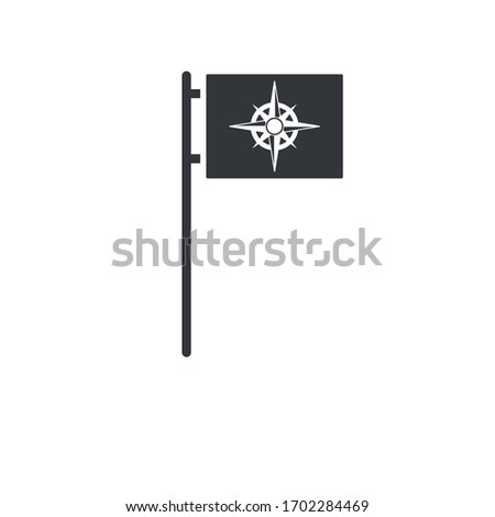 Black compass rose flag, geopolitical security concept. Stock Vector illustration isolated on white  Stock photo © kyryloff