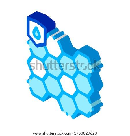 Vízálló anyag izometrikus ikon vektor felirat Stock fotó © pikepicture