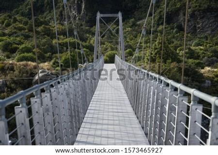 谷 トラック ハイキング 歩道 ニュージーランド 川 ストックフォト © Maridav