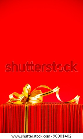 burning candles with two heart shaped toys against red background stock photo © andreykr