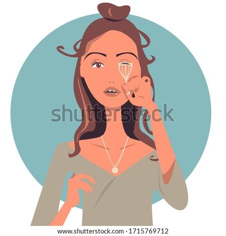 nő · szempilla · fürdőszoba · szépség · smink · kozmetika - stock fotó © wavebreak_media