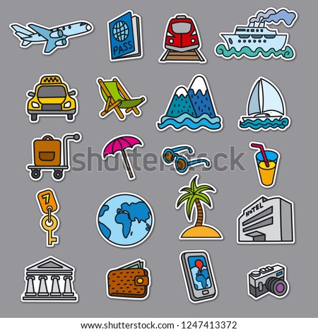 taxi   set stickers stock photo © ecelop