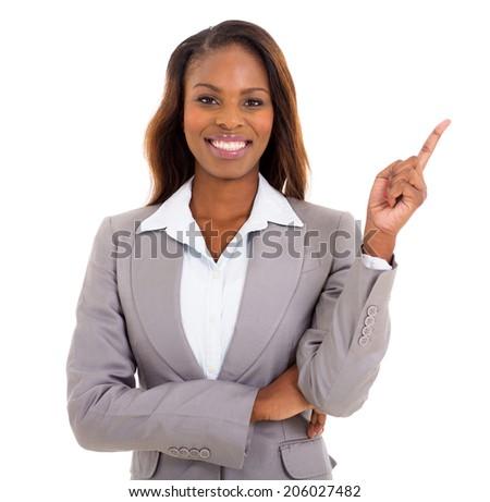 Kobiet przedsiębiorca wskazując biały Zdjęcia stock © wavebreak_media