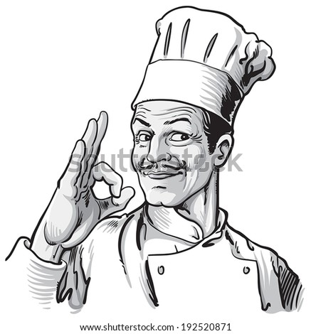 volwassen · chef · teken · portret - stockfoto © wavebreak_media