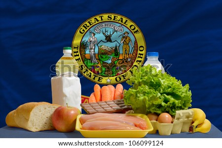 Complete Waved Flag Of American State Of Idaho For Background Foto stock © vepar5