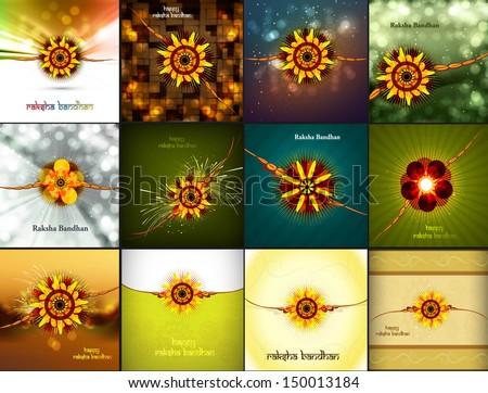Raksha bandhan beautiful celebration 9 collection presentation c Stock photo © bharat