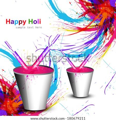 Piękna wiadro pełny kolory festiwalu szablon Zdjęcia stock © bharat