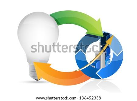 Light Bulb Idea Diagram Illustration Design Over A White Backgro Сток-фото © alexmillos