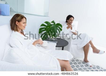 два красивой сидят роскошь стульев отель Сток-фото © Nejron