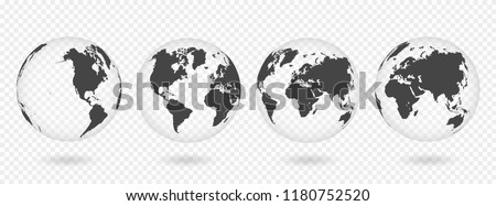 Mapa do mundo detalhado mapa mar terra Foto stock © janaka