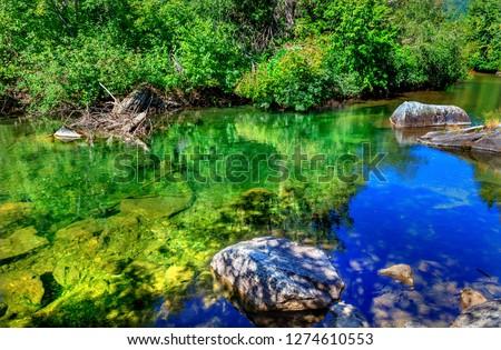 meer · kleuren · Blauw · water · eilanden - stockfoto © billperry