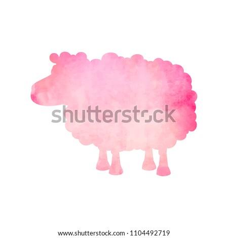 Cute · акварель · овец · зима · дизайна · искусства - Сток-фото © mcherevan