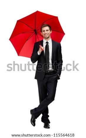 Portrait affaires parapluie blanche main travaux Photo stock © deandrobot