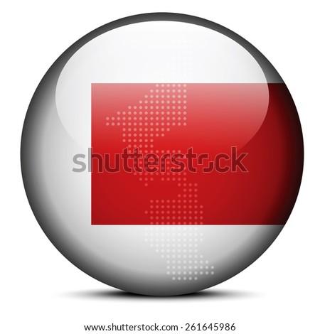 Map on flag button of United Arab Emirates, Ras al-Khaimah Emira Stock photo © Istanbul2009
