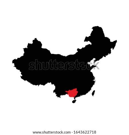 Térkép emberek köztársaság Kína régió csillag Stock fotó © Istanbul2009