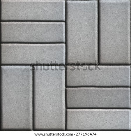 Gray Pave Slabs Rectangles Arranged Perpendicular to Each other Two or Three Pieces. Stock photo © tashatuvango