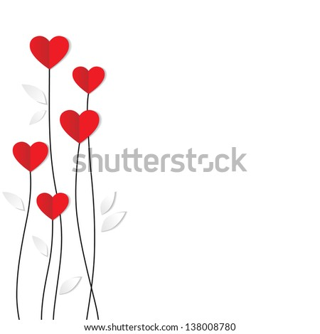 abstract Valentine card with flowers heart shapes stars, circles Stock photo © WaD