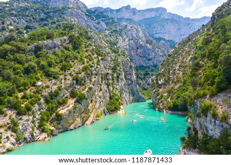 Moustiers Sainte Marie, Alpes-de-Haute-Provence Departement, Fra Stock photo © phbcz