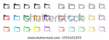 Akta felirat ibolya vektor ikon terv Stock fotó © rizwanali3d