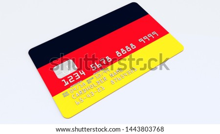 Credit card with Germany flag background for bank, presentations and business. Isolated on white Stock photo © tkacchuk