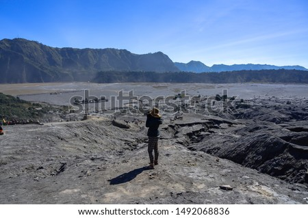 Ver vulcão bali montanha blue sky Indonésia Foto stock © artush