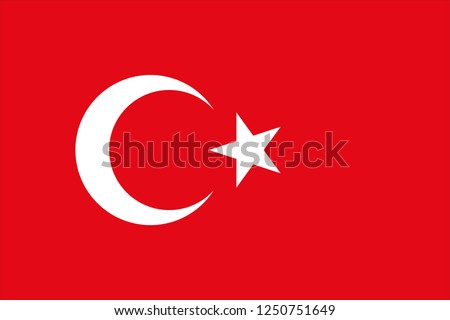 Vector background of turkey flag. Original proportions and high quality Stock photo © JeksonGraphics