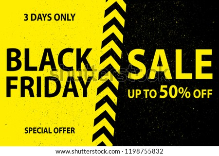 black friday sale poster with artistic frame decoration on black stock photo © sarts