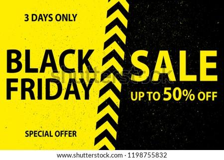 Black friday vendita poster artistico frame decorazione Foto d'archivio © SArts