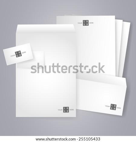 Affaires papeterie modèle entreprise Photo stock © kup1984
