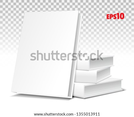vector colorful stack of books brochures isolated on white bac stock photo © alkestida
