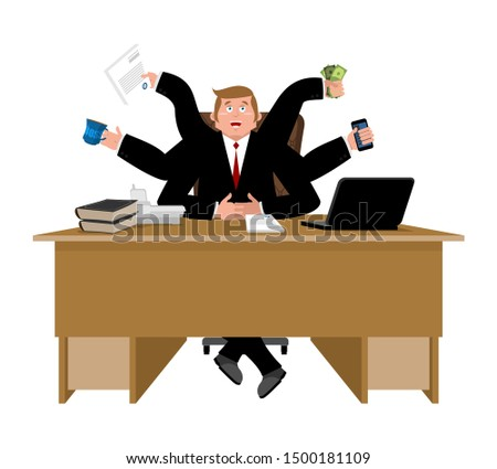 Businessman and lots of hands. Performing many tasks.  Lot of wo Stock photo © popaukropa