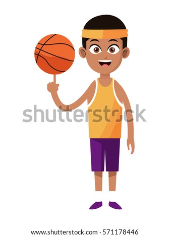 Portrait of young afroamerican basketball player, preparing to t Stock photo © deandrobot