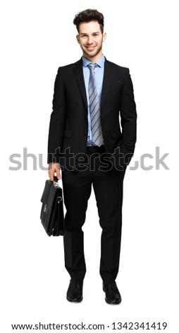 Igazgató tart aktatáska fehér középső rész üzletember Stock fotó © wavebreak_media